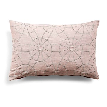 Day Symetry Cushion Cover, Silver Pink40x60cm