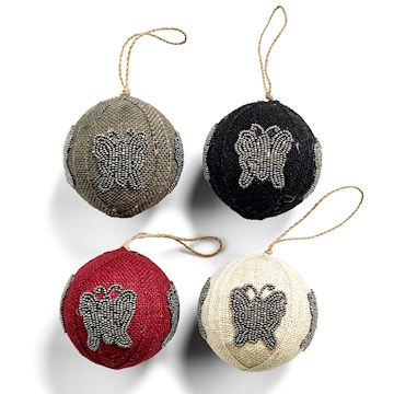 Day Pedants Jute Balls 4-Pcs set