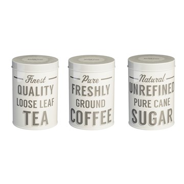 BAKER STREET SET OF 3 TEA, COFFEE, SUGAR