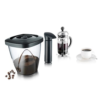 Vacuum Container for Coffee  1,3 l, Black